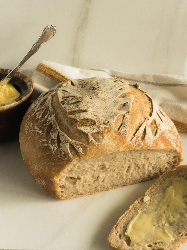 loaf of GF sourdough