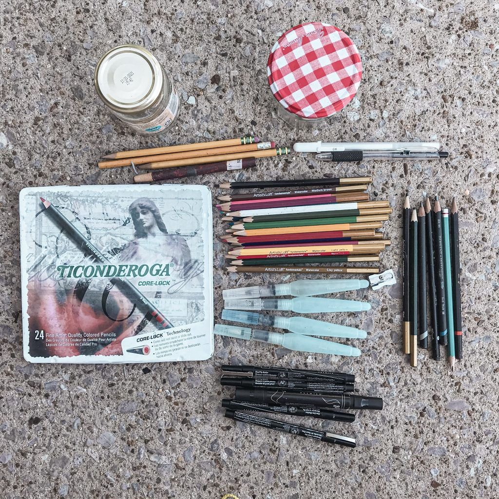 writing and coloring implements for nature study