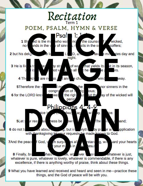 click image for recitation download